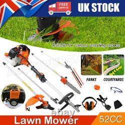 52cc Multi Function 5 En 1 Brosse À Outils De Jardin Cutter Grass Trimmer Chainsaw Uk
