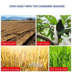 52cc Multi Function 5 En 1 Outil De Jardin Débroussailleuse Coupe-herbe Scie À Chaîne Au Royaume-uni