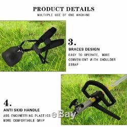 5 En1 Taille-haies Multi-outils À Essence Tondeuse À Gazon Chainsaw Jardin Débroussailleuse 52cc