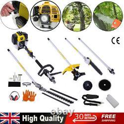 5 En 1 52cc Hedge Trimmer Multi Outil Essence Brush Strimmer Brushcutter Garden Chainsaw