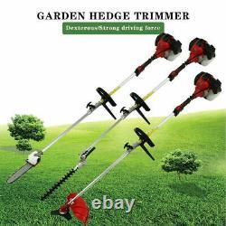 5 En 1 52cc Hedge Trimmer Multi-tools Petrol Strimmer Chainsaw Garden Brushcutter