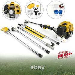 5 En 1 52cc Petrol Hedge Trimmer Chainsaw Brush Cutter Pole Saw Multifonctional