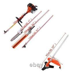 5 En 1 52cc Petrol Hedge Trimmer Chainsaw Brush Cutter Pole Saw Outdoor Tools Sw