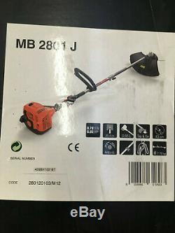 Brand New Mountfield Mb2801j Essence Tondeuse À Gazon 25.4cc 2 Stroke Boucle Poignée Combi