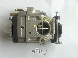 Carburateur Carb Strimmer Hedge Tondeuse Débroussailleuse Tronçonneuse 15mm 52cc