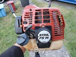 Essence 2 Stroke Stihl Fs74 Professional Tondeuse À Gazon, Débroussailleuse 23.9cc De