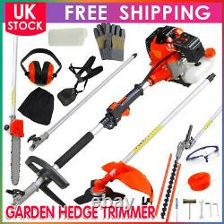 Garden Hedge Trimmer 5 En 1 Petrol Strimmer Chainsaw Brushcutter Multi Tool 52cc