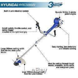 Hyundai 50.8cc Anti-vibration Coupe-herbe Débroussailleuse Hybc5080av