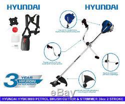 Hyundai Hybc3000 Débroussailleuse Et Coupe-bordures 2 Piles 30cc Avec Kit D'accessoires
