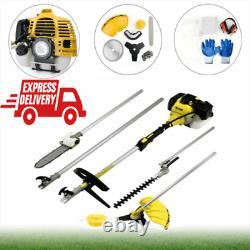 Jardin 52cc 5 En 1 Hedge Trimmer Multi Tool Petrol Strimmer Brush Cutter Uk