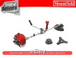 Moteur À Deux Temps Essence 32.6cc Ex De Mountfield Mb33d Strimmer Strimmer