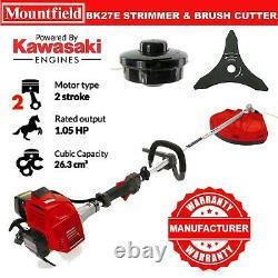 Mountfield Bk27e Kawasaki Strimmer & Brush Cutter Blade 27cc 1.05bhp Poignée De Boucle