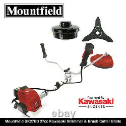 Mountfield Bk27ed Kawasaki Engine & Débroussailleuse Tondeuse À Gazon