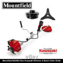 Mountfield Bk35ed Kawasaki Et Débroussailleuse Tondeuse À Gazon Lame Mégaphone Tout Neuf
