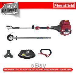 Mountfieldles 2-in-1 Multi-tool 25.4cc 2 Stroke Essence Tondeuse À Fil / Débroussailleuse