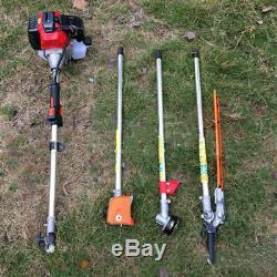 Multi-tool 5 En1 Taille-haies Essence Tondeuse À Gazon Chainsaw Jardin Débroussailleuse 52cc