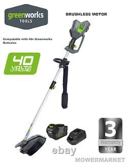 New Greenworks Duramaxx 40v Digi Pro Brush Cutter Plus 2ah Batterie & Chargeur