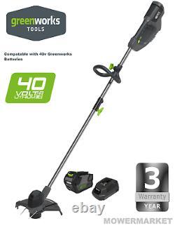 New Greenworks Duramaxx 40v Line Trimmer Plus Batterie Et Chargeur