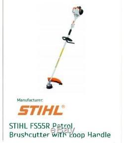 New Stihl Fs55r Essence Tondeuse À Gazon Ergostart Débroussailleuse 27.2cc Poignée En Boucle