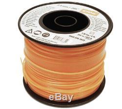 Orange Square Nylon Stihl Line Cord X 253m Tondeuse À Gazon Débroussailleuse Et Coupe Bordure