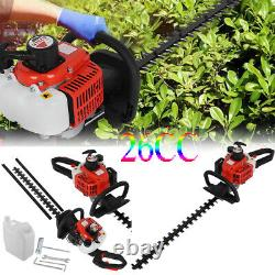 Petrol Hedge Trimmer 26cc 600mm Blades Brush Cutter Blade Double Sided Royaume-uni