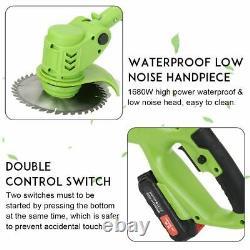 Powerful Cordless Double Roue Electric Grass Trimmer 36v Tondeuse À Gazon