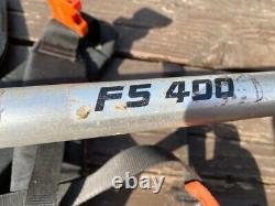 Stihl Fs 400 Petrol Débroussailleuse Avec Harnais Et Débroussailleuse