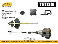 Titan & Tondeuse À Gazon Débroussailleuse 2 Stroke Essence De L'arbre Droit Avec Spool & Blade